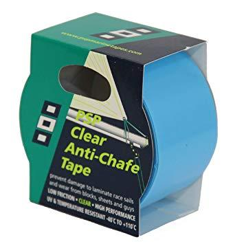 Cinta protectora anti-rozaduras PSP, 50 mm x 3 m - Cinta adhesiva de PTFE para proteger el gelcoat, los barnices o las pinturas de los roces con lo cabos.
