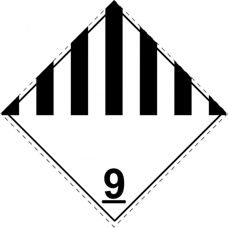 Etiqueta de Señalización IMDG Clase 9: Miscellaneous