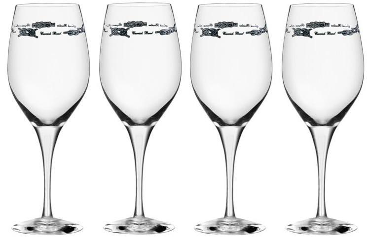 """Copas de vino """"Exclusive"""" Juego 4 Piezas - Con ellas cada comida a bordo sera un lujo. El diseño de esta gama es estilosa y sofisticada..."""