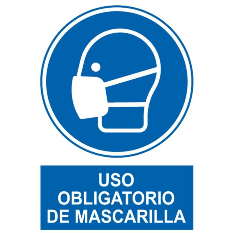 Panel PVC - Uso Obligatorio Mascarilla