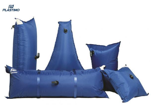 Depósitos de Agua Flexible recubiertos de Lona desde 50 a 200 Lt - Depósito flexible de alta resistencia en PVC cubierto de una lona protectora para combinar estanqueidad, robustez y resistencia a la fricción y el desgaste. Incluyen terminal de llenado Ø 38 mm y de salida de agua de Ø 12 mm