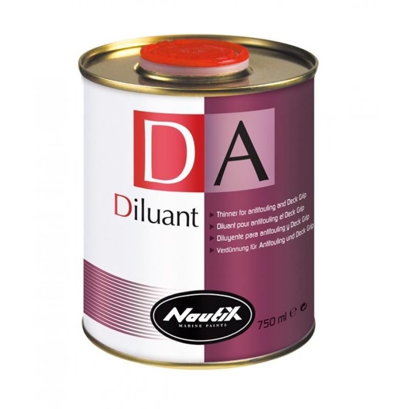 Diluyente DA para antifouling , masillas epoxi y Deck Grip - Este producto se recomienda particularmente para facilitar la aplicación de los antifoulings y para limpiar los instrumentos. Es también un excelente limpiador para manchas de alquitrán.