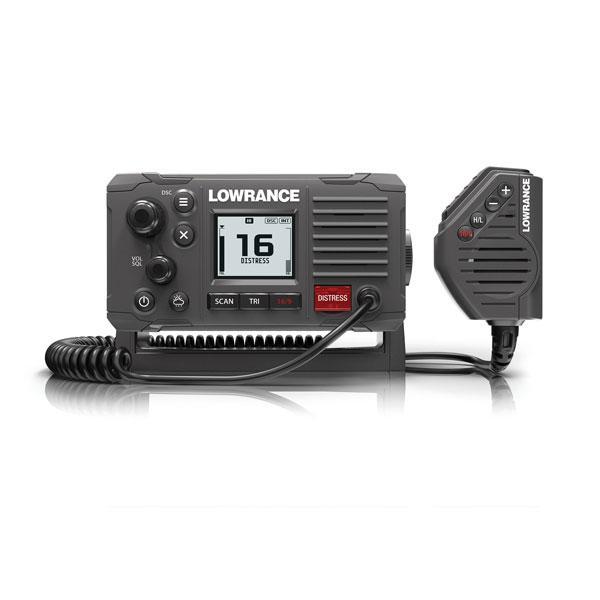 Emisora VHF Fija Lowrance Link-6S GPS - Comuníquese de forma clara con esta fiable radio marina VHF homologada DSC Clase D que incluye micrófono de mano con cuatro botones, controles giratorios y mediante teclas intuitivos y un nuevo diseño de montaje frontal para una fácil instalación. Incluye GPS interno