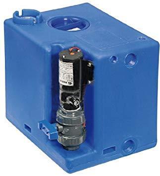 Deposito de Aguas Negras con Bomba Maceradora - Tanque de aguas residuales, con bomba maceradora, listo para la instalación.Compatible con todos los sistemas de inodoros eléctricos y manuales.Capacidad 52, 72 o 112 L