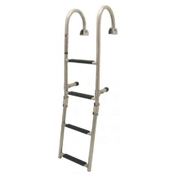 Escalera plegable para regala, en Acero Inoxidable - Escalera plegable para regala, en acero inoxidable 316..   Fabricadas en tubo de acero inoxidable de 22mm con peldaños antiderrapante..   Disponible en 3, 4 o 5 peldaños.
