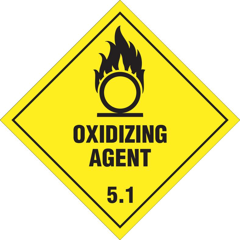 Etiqueta de Señalización IMDG Clase 5.1: Oxidicing Agent