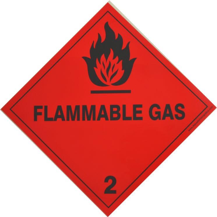 Etiqueta de Señalización IMDG Clase 2.1: Flammable Gas