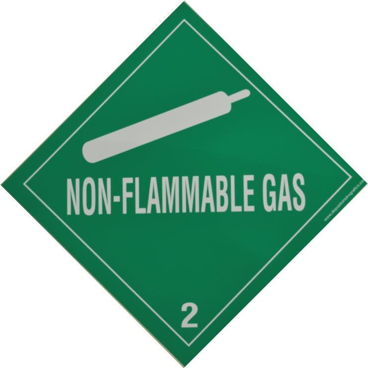 Etiqueta de Señalización IMDG Clase 2.2: Non Flammable Compressed Gas