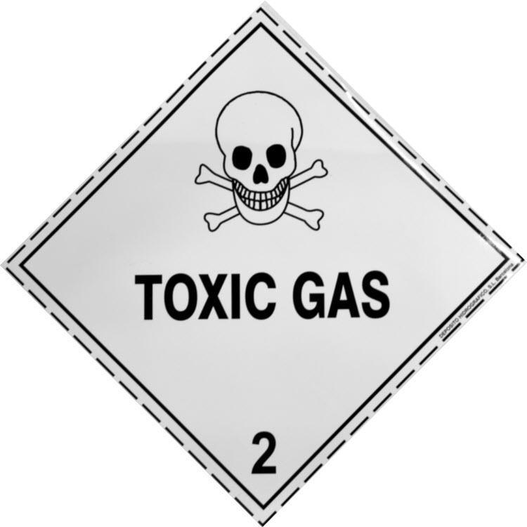Etiqueta de Señalización IMDG Clase 2.3: Toxic Gas