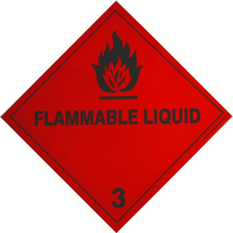 Etiqueta de Señalización IMDG Clase 3: Flammable Liquid