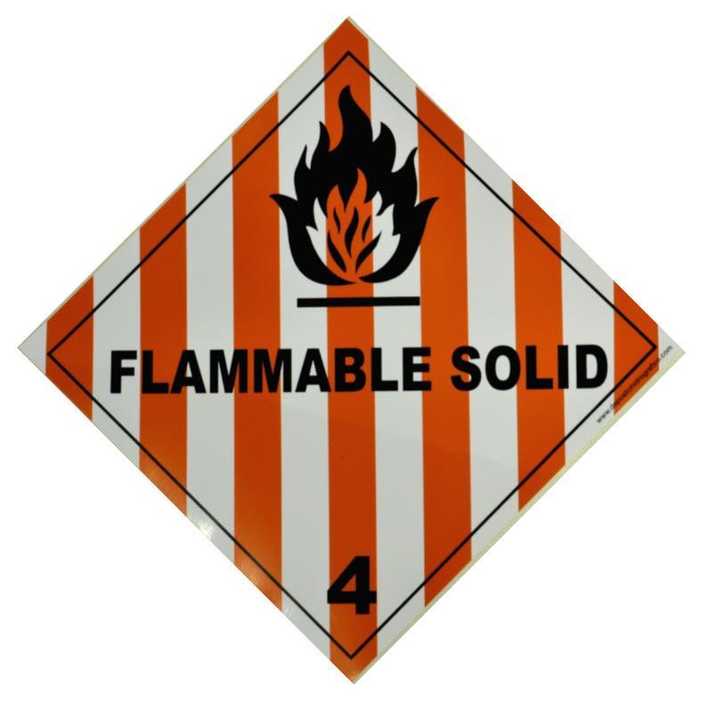 Etiqueta de Señalización IMDG Clase 4.1: Flammable Solid