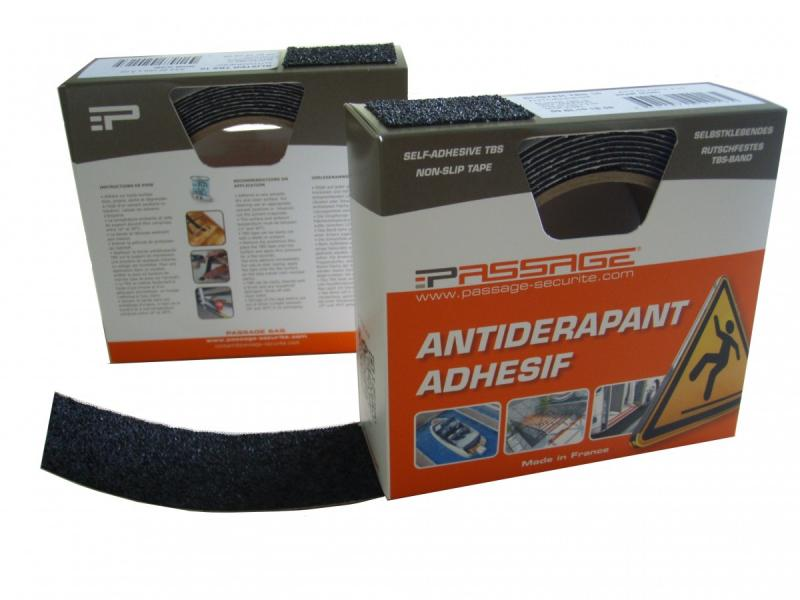 Cinta antideslizante TBS 10 - Recomendadoparaportillos, pasarelas, escaleras, rampas, etc..   - Espesor:1mm.   - Peso: 600g/m2.   - Medida: 4 cm x 3 m