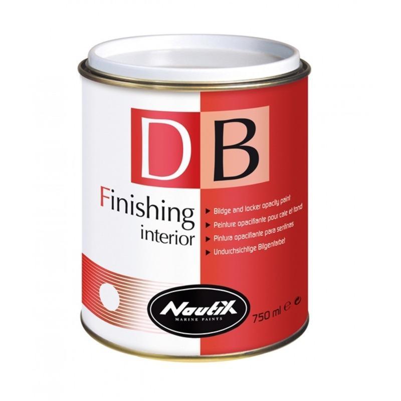 Pintura para Fondos Nautix DB - La pintura de fondo Nautix DB es un recubrimiento de fuerte poder opacifiante para fondos, baúles, sentinas y mamparos ; también es resistente a la abrasión, a los hidrocarburos y a los detergentes.
