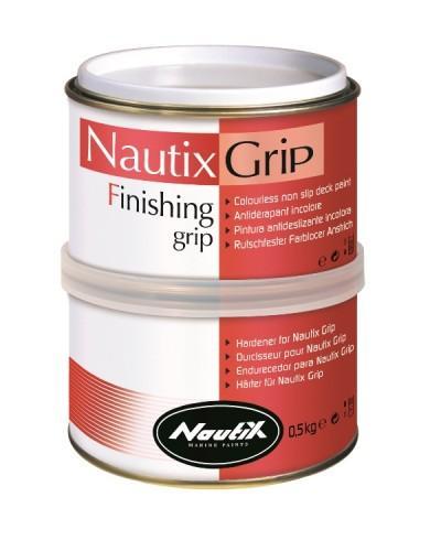 Nautix Grip. Antideslizante de dos componentes de alta gama - NAUTIX GRIP es una pintura translúcida antideslizante formulada para asegurar un anclaje de calidad bajo los pies, ideal para aplicar sobre el gelcoat de la cubierta del barco y de las tablas de windsurf.