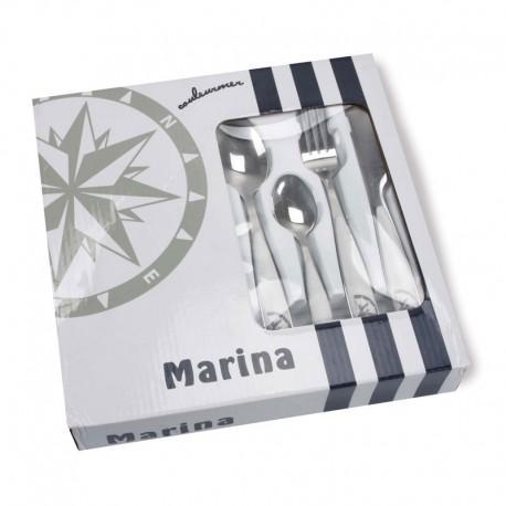 Conjunto de Cubiertos Topoplastic Marina, inox/ABS, 24pcs - Set de 24 cubiertos de acero inoxidable y resina acrílica.