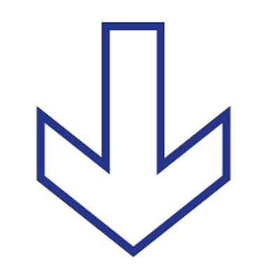 Adhesivo Suelo Circular - Flecha Blanca Sentido de la Marcha