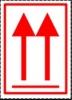 Etiqueta de Flechas orientación cargas - Etiqueta de señalización para mercancias peligrosas. Autoadhesivas de 100 mm para cargas individuales Material Polipropileno
