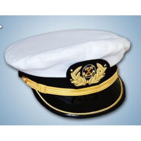 Gorra Plato Capitan de a Marina Mercante con Funda