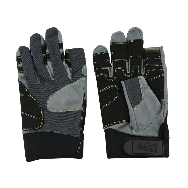 Guantes de Maniobra Amara, 2 dedos cortos  - Los guantes Amara son para uso en actividades marinas o terrestres. Se fabrican usando cuero amara, neopreno, una tela durable y un ajuste de velcro.