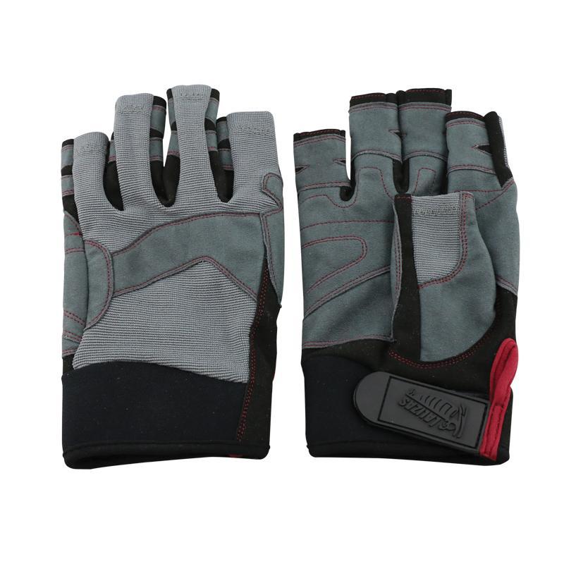 Guantes de Maniobra Amara, 5 dedos cortos  - Los guantes Amara son para uso en actividades marinas o terrestres. Se fabrican usando cuero amara, neopreno, una tela durable y un ajuste de velcro.