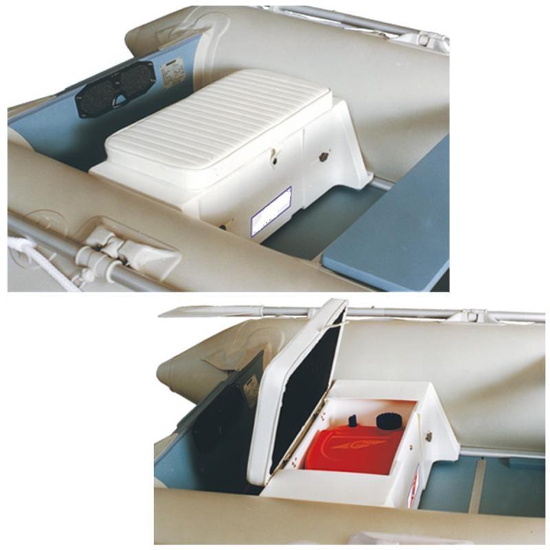 Asiento con cofre regulable para embarcaciones neumáticas de 2.40 a 3.50 m