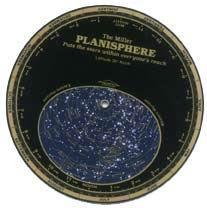 Planisferio celeste Miller latitud 40º Norte - Se giran los discos plásticos indicando la fecha y hora del día para revelar una ventana del cielo que corresponde a lo que usted vería en ese momento.