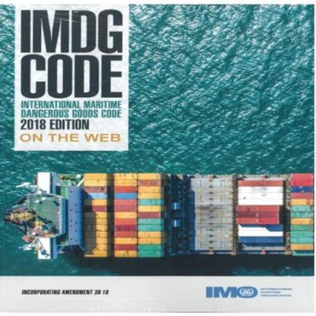 International Maritime Dangerous Goods Code IMDG on the Web - Edición 2018– Versión 14- Incluye Enmienda 39-18. En vigor: 1 Enero 2020 a 31 Diciembre 2021, Voluntario: 1 Enero 2019. Tiempo de vigencia de la licencia 1 año