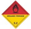 Etiqueta de Señalización IMDG Clase 5.2: Organic Peroxide - Etiqueta de señalización para mercancias peligrosas. Material vinilo Autoadhesivas de 300x300 mm para contenedores. Material autoadhesivas de 100x100 mm para cargas individuales