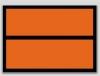 Panel Naranja Clasificación de Producto - Etiqueta de señalización para mercancias peligrosas. Autoadhesivas de 300x400 mm  Material vinilo Autoadhesivas