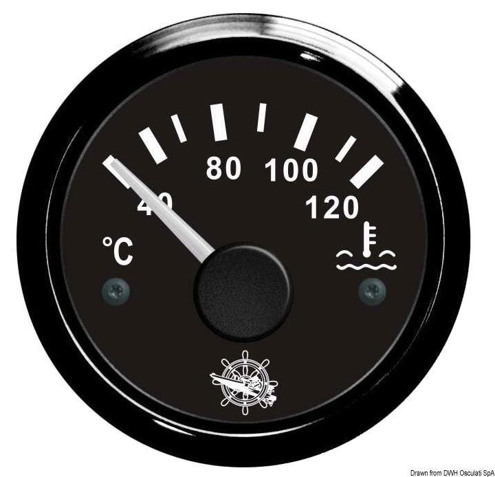 Indicador de Temperatura Osculati Agua Motor 40/120º