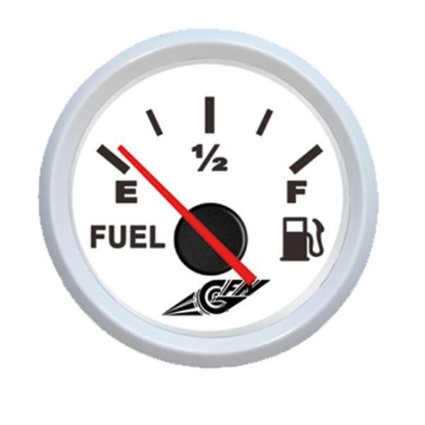 IndicadorNivelde combustible de 0-190 Ohm 12 V Blanco