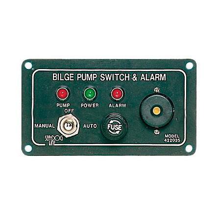 Interruptor de panel con alarma para bombas de achique eléctricas