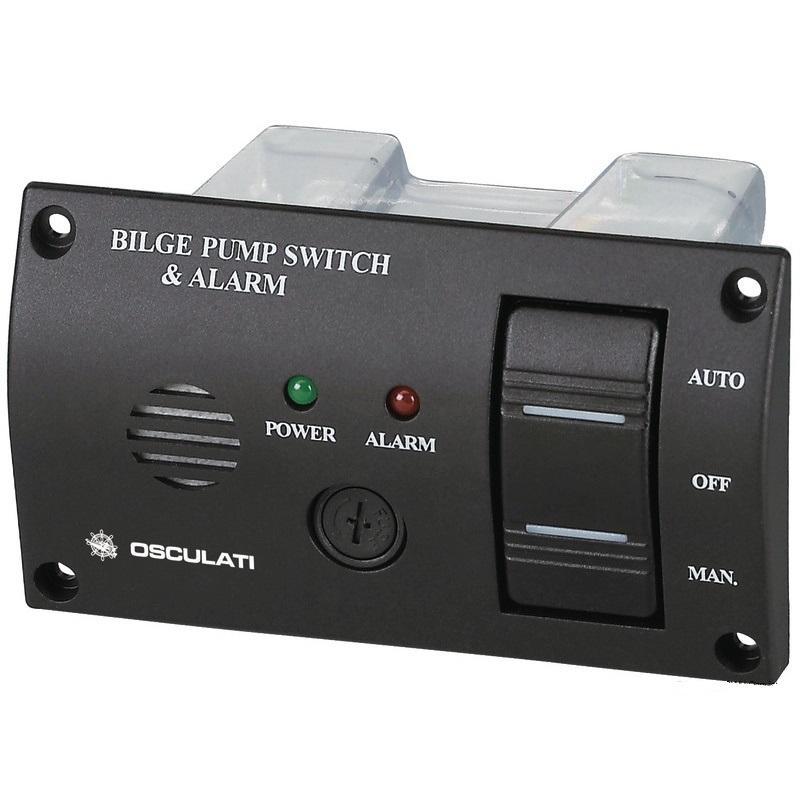Interruptor de panel con alarma sonora para bombas de achique
