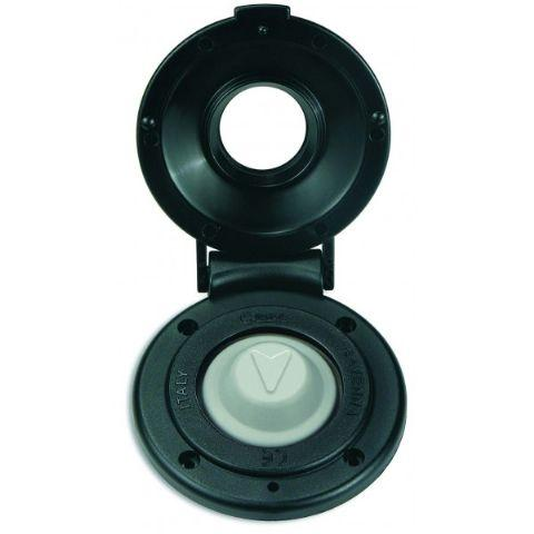 Interruptor de pie Negro Quick, para Molinetes - Interruptor de pie Quick estanco, con tapa protectora, para molinetes. Equipado con proteccion para evitar la presion accidental del pulsador.  Fácil de instalar.