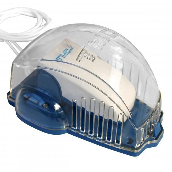 Interruptor de Sentina TMC-0812201, tipo flotador, con carcasa 12V/24V - Interruptor automático, carcasa de proteccion, para bombas sumergibles con un amperaje inferior a 10 A. Se puede utilizar a 12 o 24 V..