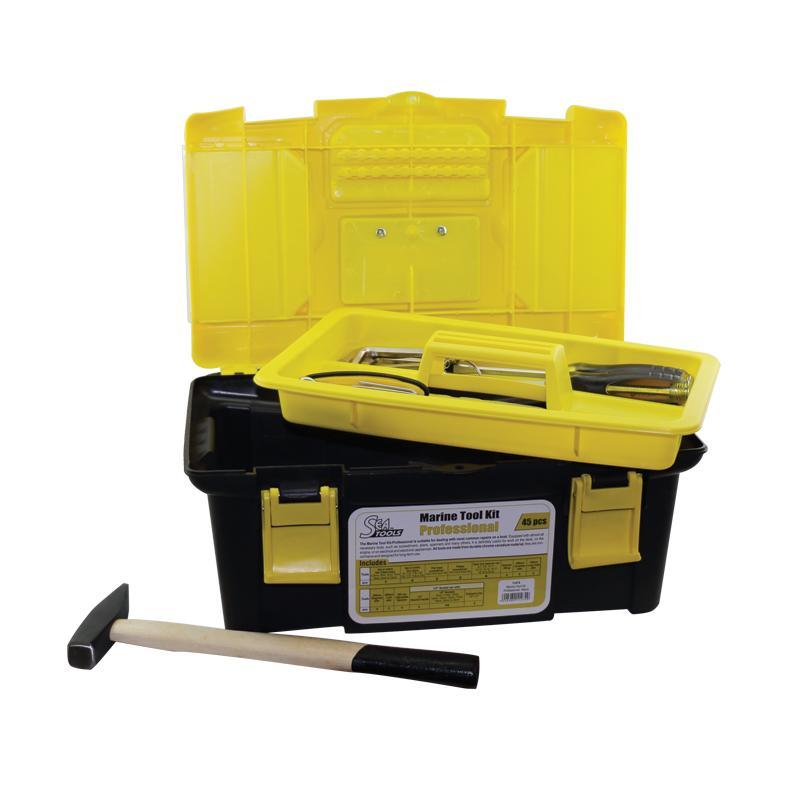 Kits de Herramientas Marino SeaTools - El kit de herramientas marinas profesionales (45 piezas) es adecuado para realizar las reparaciones más habituales en un barco.