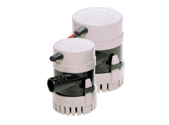Bomba electrica de Achique sumergible de 500 a 1000 GPH - Bombas eléctricas de 12V sumergibles construidas con una cubierta de plástico ABS e impulsadas por el mejor motor compacto del mundo.