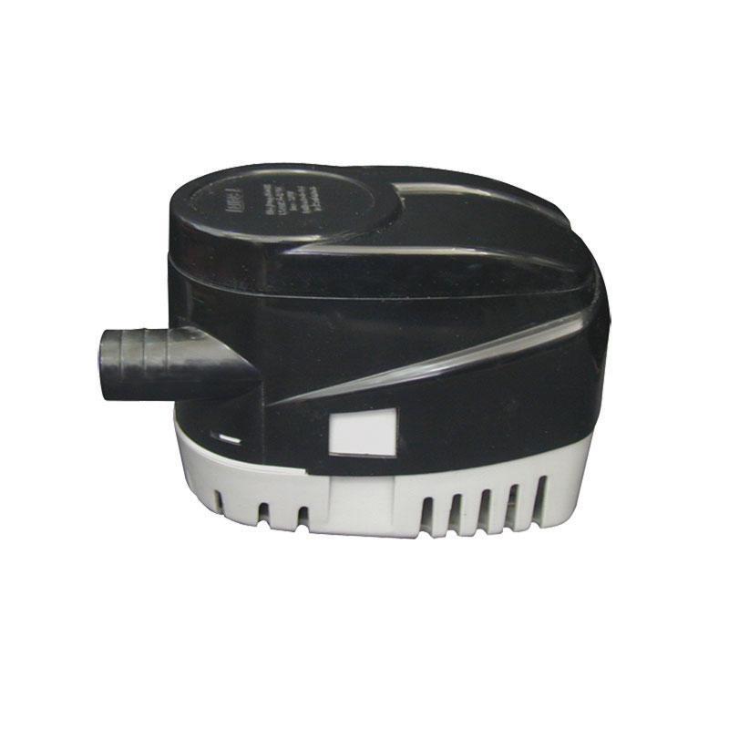 Bomba de sentina sumergible automatica 600 GPH - Con interruptor de nivel de flotador..   Está fabricado en plástico ABS. La base se quita y pone por clips, lo que facilita su instalación y mantenimiento.