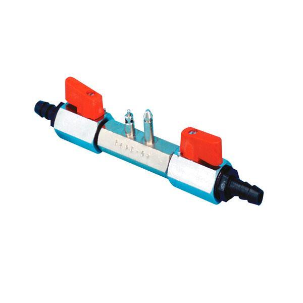 Valvula Combustible de dos Vias Nuova Rade para Manguera 10mm - Conector de combustible, con dos grifos, para manguera de 10mm