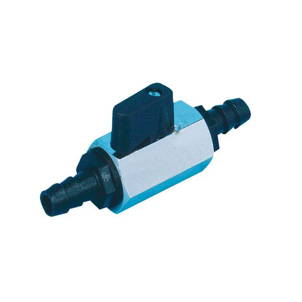 Grifo Combustible Nuova Rade con Cierre para Manguera 8mm - Grifo de combustible, con dos terminales y llave de cierre, para tubo o manguera de 8mm