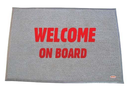 Alfombrilla de Bienvenida con forro, PVC color Gris - Las alfombrillas de Bienvenida se diseñan para dar máxima comodidad y proporcionar una superficie cómoda, elástica y antiderrapante.