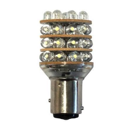 Bombilla 12V 36 LED BAY15D para Luces de navegacion - Bombilla 12V, LED - T25 BAY15D.   36 LED blanco frío por bombilla.   Pasadores paralelos.   Contacto simple en la base.   Bajo consumo de energía.   Funciona con algunas luces de navegación para barcos de eslora inferior a 20m.   Servida por unidad