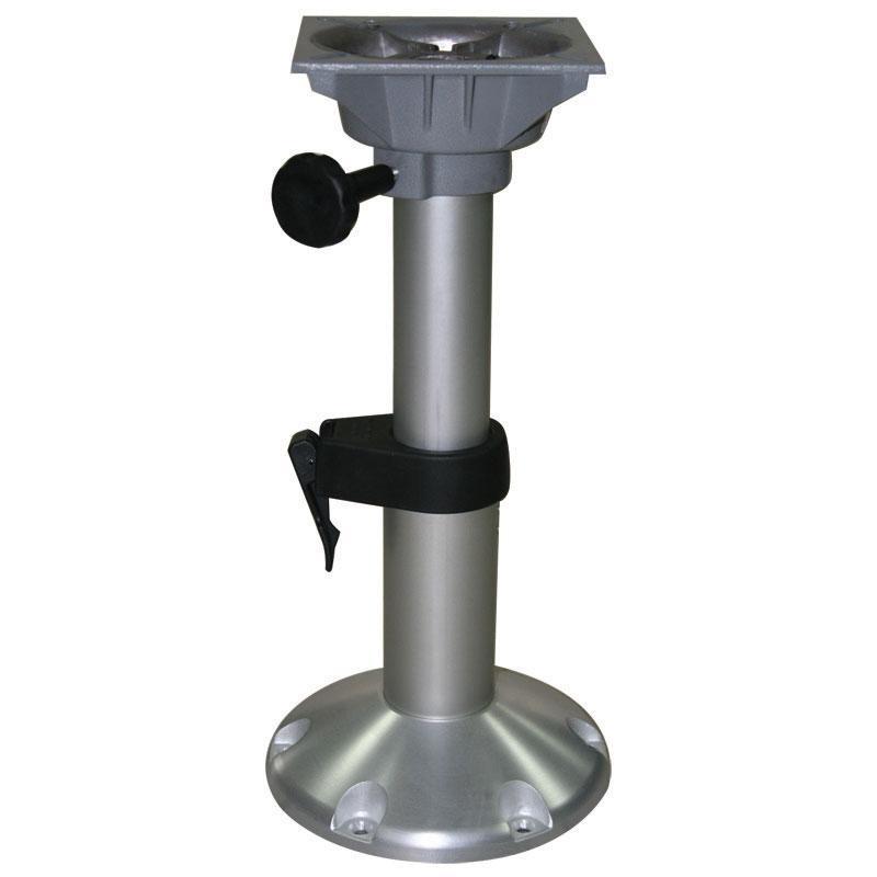 Pedestal de Asiento Columbia, Ajustable - Pedestal telescopico para asiento, fabricado en aluminio anodizado.