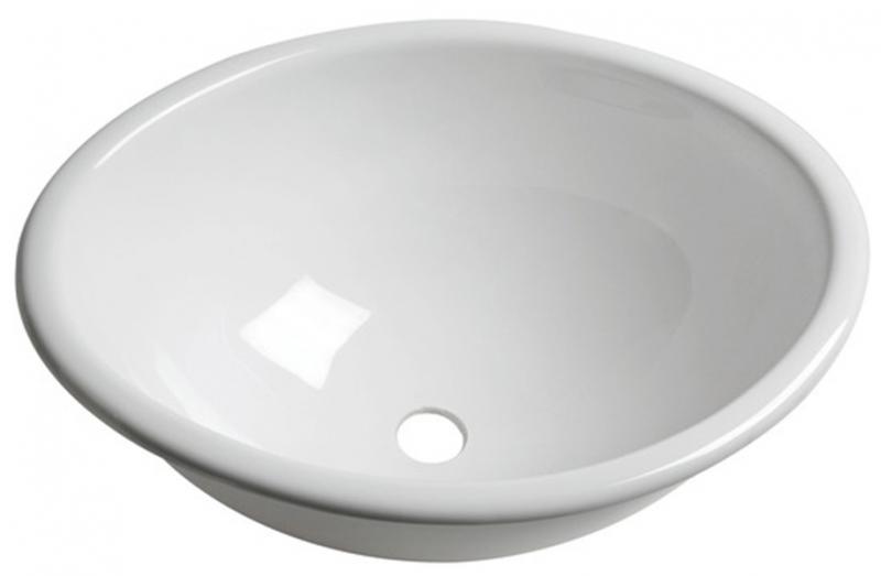 Lavabo ovalado de plexiglás 370x290x150 mm