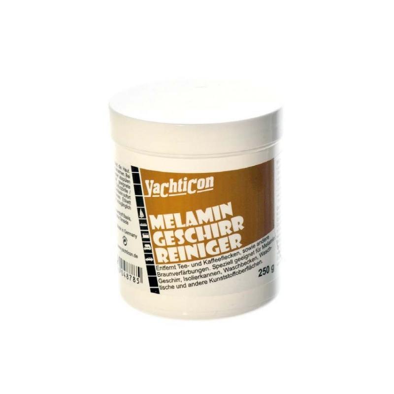"""Limpiador de Melamina Yachticon 250g - Lavavajillas especial para la vajilla fabricada en plástico """"Melamina"""".  Elimina residuos de té y café y decoloraciones de todo tipo."""