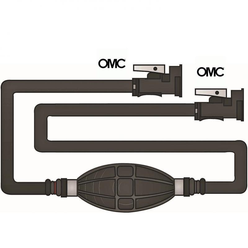 Linea de Combustible OMC 2 Conectores Hembra