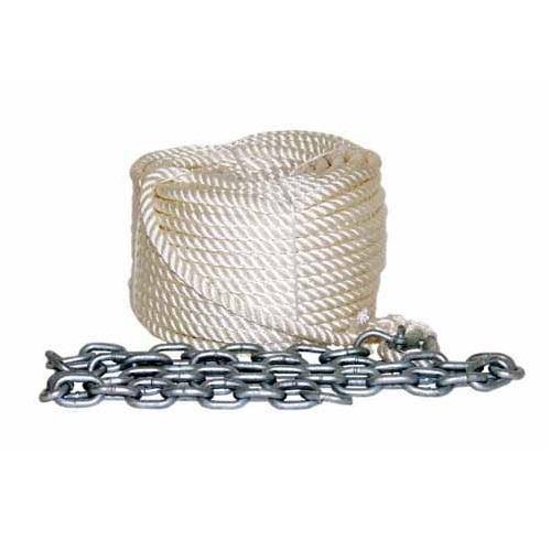 Linea de Fondeo completa con cabo de poliester  y cadena
