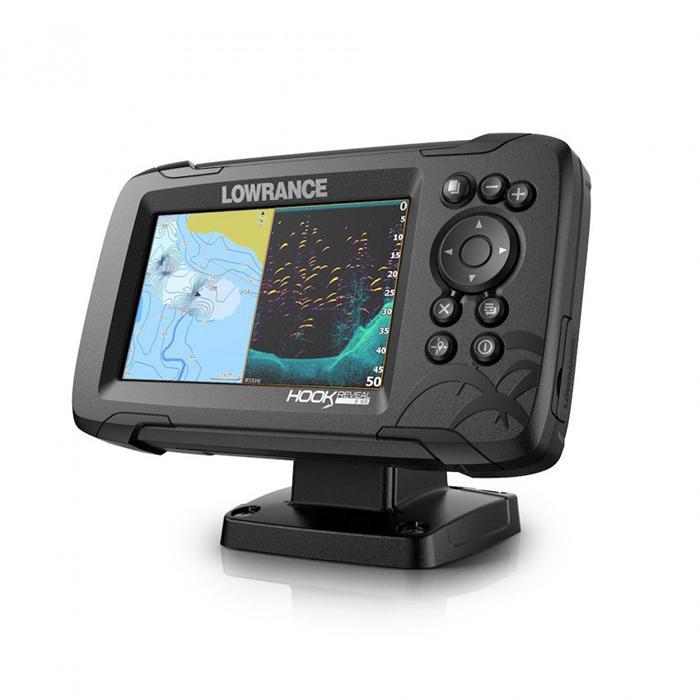 Lowrance Hook Reveal 5 con transductor 83/200 HDI & mapa base - La nueva HOOK Reveal facilita la pesca y ofrece un potente rendimiento gracias a sus exclusivas funciones, que incluyen sonda de ajustes automáticos, DownScan Imaging™, rendimiento optimizado en aguas profundas y ahora FishReveal™, que hace que ver los peces sea más fácil al combinar las ventajas de la sonda CHIRP y DownScan Imaging™ de Lowrance en una sola pantalla...
