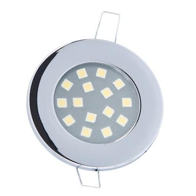 Luz LED Interior Redonda 12V Marco aluminio