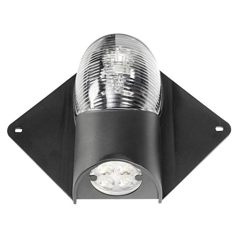 Luz LED de Tope y Cubierta 12/24 V Negra